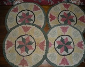 Chair Pads - Set of Four - Tulip and Star Design