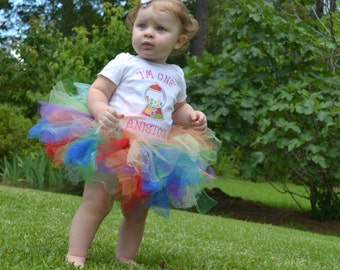 GUMBALL BIRTHDAY BODYSUIT and TuTu, Girls 1st Birthday TuTu Set, Girls Cake Smash,Baby girls birthday outfit, Baby Girl Clothes