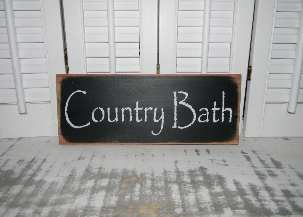 bathroom sign country bath wall decor cottage by hensnesttreasures