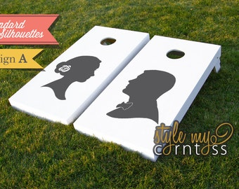 His & Hers Standard Silhouettes Corntoss / Cornhole - ( Non-Customized Silhouette Boards )