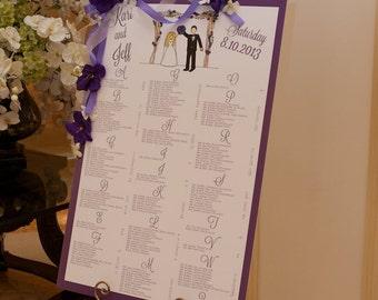Custom Wedding Seating Chart