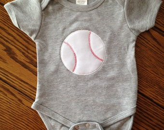 Baseball Boys Bodysuit - Infant Creeper - Baby Shower Gift - Other Sports Available Upon Request - Perfect for Sports Fans