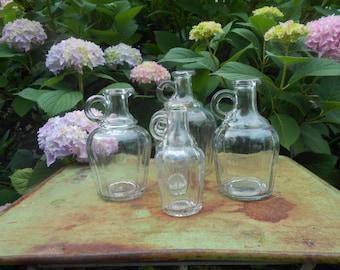 Set of 5 Vintage Vinegar Jars
