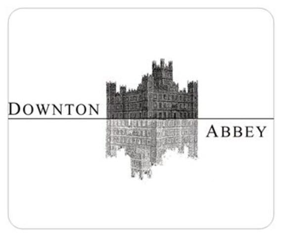 Downton Abbey Highclere Castle Silhouette Mousepad