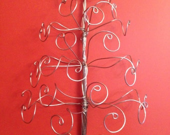 Wire Wall-Mount Jewelry Tree Display Necklace Earing Holder -Ready to Ship-LARGE SIZE