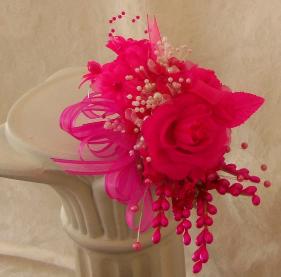 Wrist Corsage Pink Prom- Homecoming- Wedding- Quinceanera