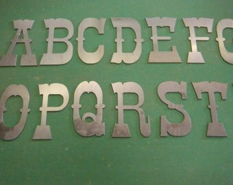 "5"" Metal Letters A-Z FREE SHIPPING"