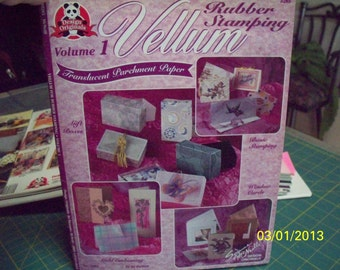 Vellum for Rubber Stamping Design Originals Can Do Crafts Instruction Paperback Booklet