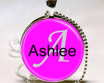 Ashlee Name Monogram Handcrafted  Necklace Pendant (NPD0109)