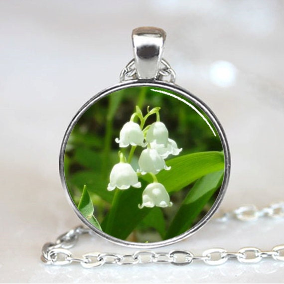 Lily of the Valley Flower Handcrafted  Necklace Pendant (PD0256)
