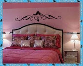 """48"""" wide Select a Style - Bedframe Style Scroll - Vinyl Wall Decalz"""
