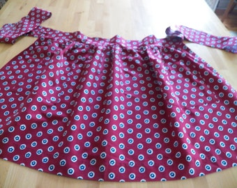 Gorgeous Unused 1960 Handmade Apron from Hathaway Shirting Material