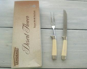 Emdeko Desert Flower Serving Set - Regent Sheffield Cutlery in Box