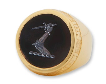 Custom Gold Signet Ring Your Choice Many Styles Family Crest
