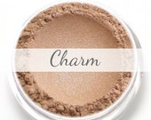 "Eyeshadow Sample - ""Charm"" - shimmery champagne beige (Vegan) Mineral Makeup Eye Color Pigment"