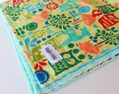 SALE, Baby Blanket, Owl Forest Life Minky Baby Blanket, ready to ship