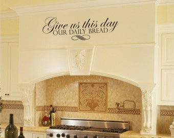 Our Daily Bread Scripture Wall Decals  - Vinyl Wall Words Stickers Art