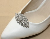 A Pair Of Vintage Victorian Style Rhombus Shoe Clips, Wedding Bridal Shoe Clips, Rhinestone Crystal Shoe Clips, Shoes Decoration