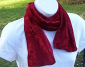 RESERVED Listing - Fashion Scarf -  - Penne Velour  - Wine Color - Aviators Scarf - RESERVED for Ann B.