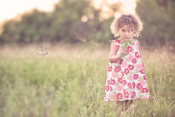 Children Clothing - Bonnie Camielle - Vintage Dress - Flower Girl - Floral Dress - Vintage Fashions - Peasant Dress  - 3M to 4T