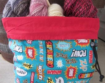 Superhero Super Power Knitting Project Bag - Phat Fiber