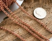 Solid RAW Copper chain 2mm approx rolo 3ft length