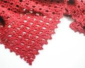 Crochet Pattern - Lace Shawl with Beaded Edging - Instant Download  PDF