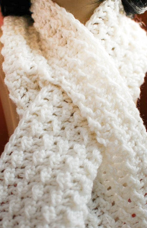 Crochet Pattern - Keyhole Scarf with Spiral Flower - Immediate PDF Download