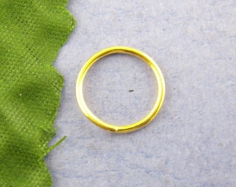 100pcs 14mm Gold Plated Jump Ring - 16 Gauge, 16 g, Jewelry Finding, Jewelry Making Supplies, Necklace, Bracelet, DIY, Ships from USA - JR43