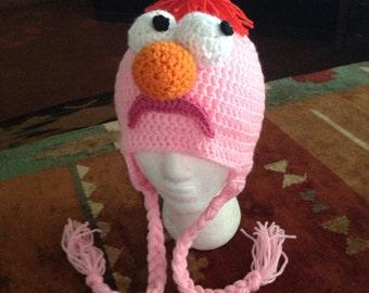 Beaker Muppet hat
