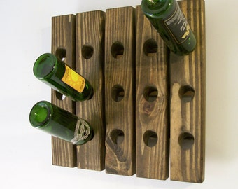 Wooden Wine Rack Riddling Rack Wall Wine Rack Gift Wedding Anniversary