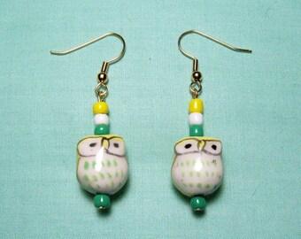 Adorable Owl Earrings Handmade Jewelry Cute Earrings Gifts for Her Handmade Earrings Fashion Accessories Gifts for Girlfriend