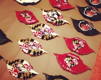 Hand Painted Crab Shells Ornaments