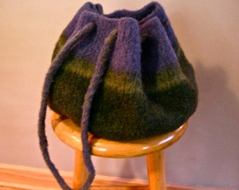 Purple and Green Alpaca Bag