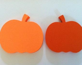 24 pumpkin die cuts, large pumpkins, pumpkin embellishments, pumpkin gift tags