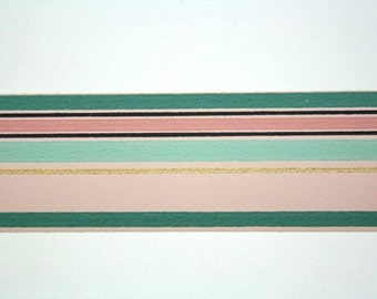 Full Vintage Wallpaper Border - TRIMZ - Pink, Green, and Mint Stripe