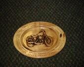 Rustic Motorcycle Cribbage Board
