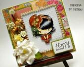 Greeting Farm Hatter Bean Birthday Handmade Greeting Card