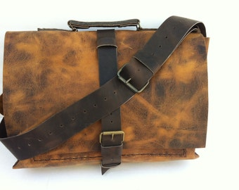 Professional Messenger Bag with Laptop Sleeve, Great Gift for Your Men ,Made in NYC BY Nadirabag
