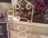 Tea cup holder, 4-tier metal tea cup stand, shabby chic tea cup display