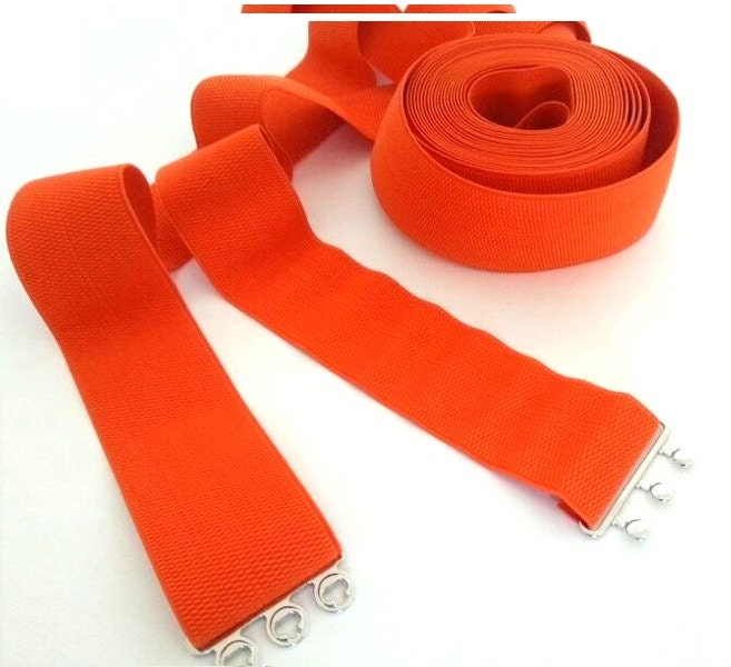 orange belt wide elastic belt orange stretch belt