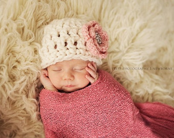 Baby girl hat, baby girl hats, newborn girl photo prop, newborn girl hat, baby girl coming home outfit, baby girl clothes, infant girl