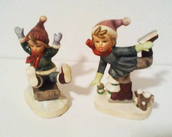 Napcoware C8837 Skating and Sledding Figurines