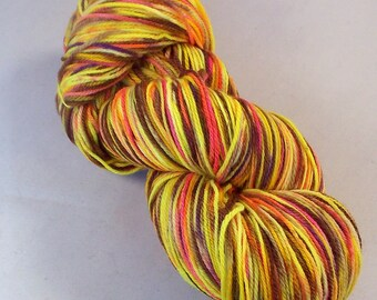 Tweet Bird on Nub 100% SW Merino Hand dyed fingering weight sock yarn