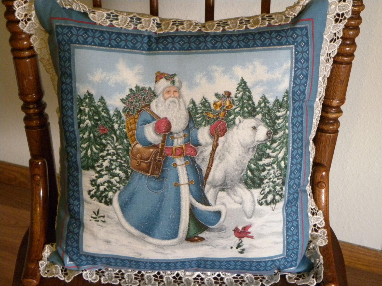 Santa Pillows Victorian Santa Claus Pillows Christmas
