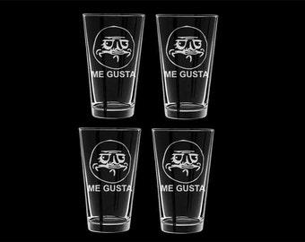 Me Gusta Pint Glasses Set of 4