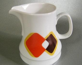 Vintage Cream Pitcher, Mid Century Milk Pot, Retro Cream Jug, Bavarian Porcelain brand Schirnding