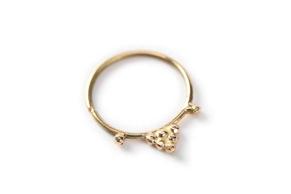 septum jewelry indian gold nose ring 14 karat by studiolil