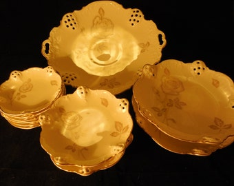 "Rosenthal Reticulated ""Moliere"" Serving Pieces    p230"