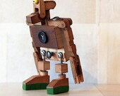Found Object Robot Sculpture Made From Piano Parts